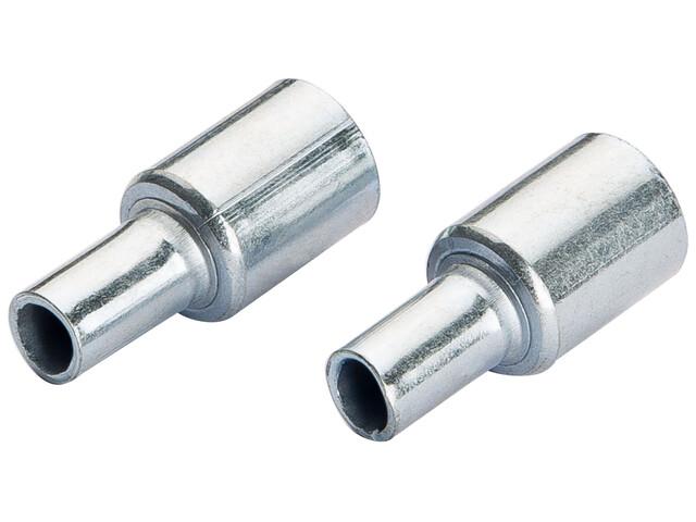 CAMPZ Embout arceau fibres de verre - Accessoire tente - 11 mm set de deux argent